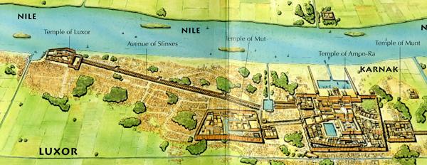 Chapter - Map of egypt karnak