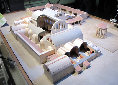 The Roman Baths At Bath And Caerleon