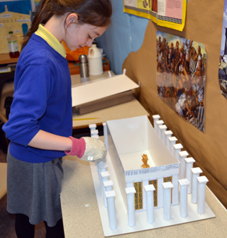 A workshop on the legacies of the ancient greeks for How to make paper temple