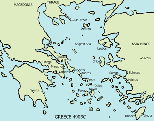 New Page 3 Marathon Greece Map on