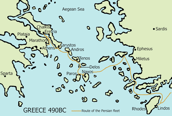 paros greece map