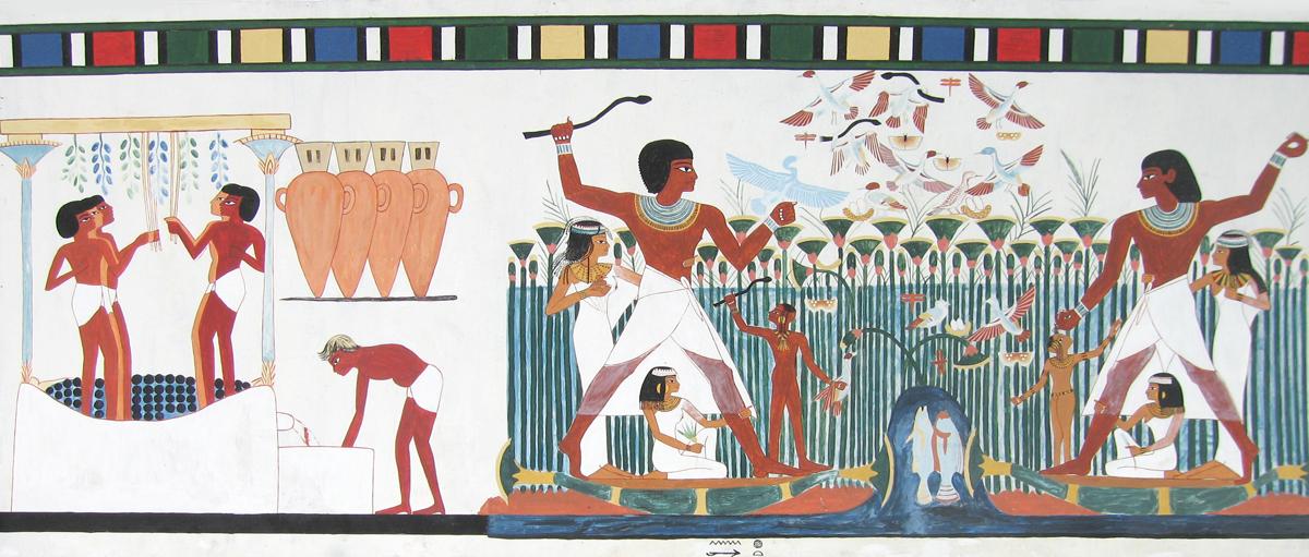 Tomb of nakht for Beni hasan mural