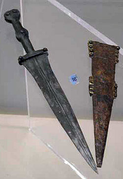 What Is Leather Made Of >> Roman daggers